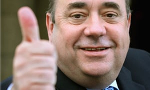 Alex Salmond gives the thumbs up