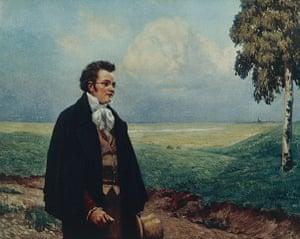 Ten best: Austria, Vienna, Portrait of Franz Peter Schubert in Viennese Countryside