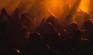 Clubbers at the Hacienda nightclub