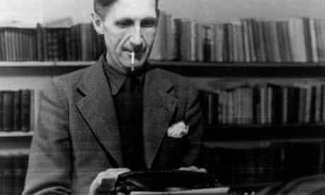 George Orwell at work