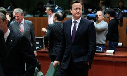 David Cameron European Union budget negotiations