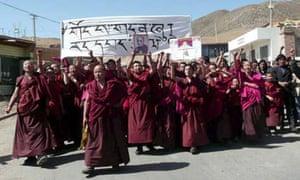 China Tibet protests