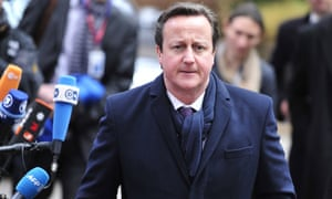 British Prime Minister David Cameron arrives at European Union (EU) headquarters for the EU summit on February 7, 2013 in Brussels, Belgium.