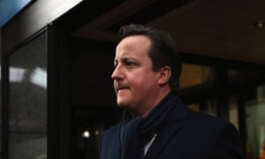 British Prime Minister David Cameron leaves the EU Headquarters on February 8, 2013 in Brussels, Belgium.