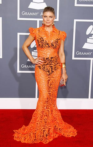 badly dressed Grammy's: Fergie at the 54th Annual Grammy Awards