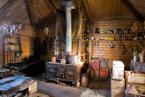 Shackleton: Interior of Ernest Shackleton's hut, Cape Royds, Ross Island, Antarctica