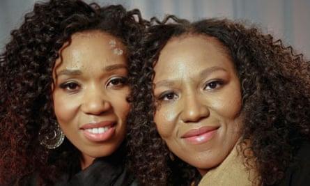 Nelson Mandela's granddaughters, Swati Dlamini, left, and Zaziwe Dlamini-Manaway