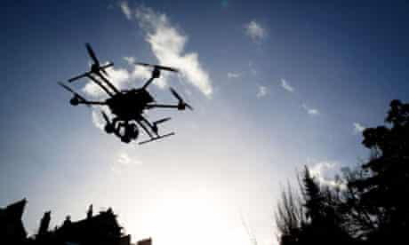 An aerial photography drone