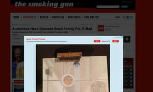 George Bush portraits Smoking Gun