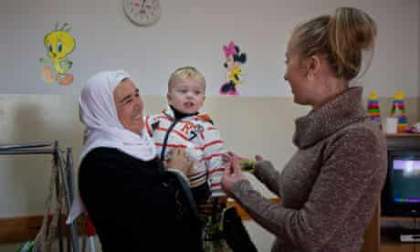 A Ukrainian woman in Mount Gerizim