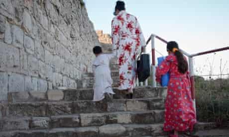 Samaritan mother and children