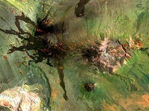 Satellite Eye: the Payún volcanic field of Argentina