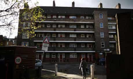 A council housing estate, Lambeth, London.