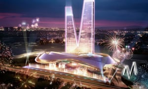 Computer-generated images of the 'EuroVegas' gambling complex and conference centre outside Madrid