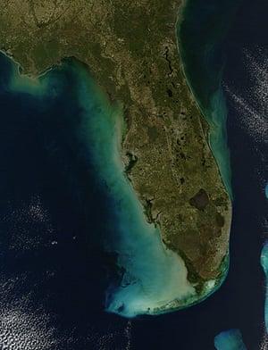 Satellite Eye: southern state of Florida