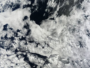 Satellite Eye: A complex cloud pattern greeted the new year