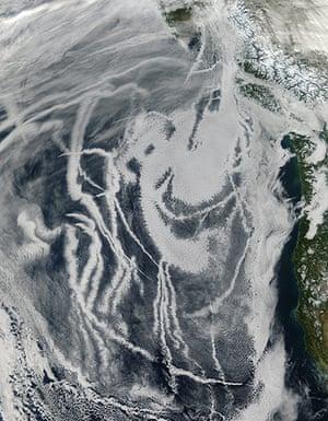 Satellite Eye: Ship Tracks off North America