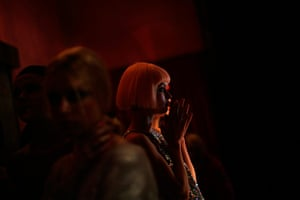 20 Photos: A model is seen backstage  during New York Fashion Week