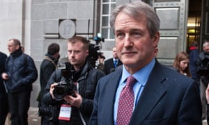 Environment secretary Owen Paterson talks to media after emergency meeting over horsemeat scandal