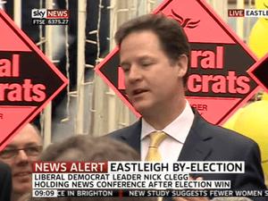 Nick Clegg in Eastleigh