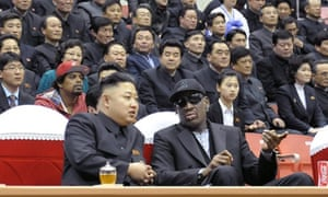 Basketball diplomacy. North Korean leader Kim Jong-Un and former basketball star Dennis Rodman speaking at a basketball game in Pyongyang. Flamboyant former NBA star Dennis Rodman has become the most high-profile American to meet the new leader of North Korea, vowing eternal friendship with Kim Jong-Un at a basketball game in Pyongyang.