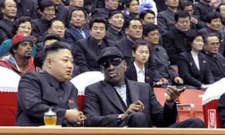 Kim Jong-un and Dennis Rodman