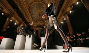 French designer Roland Mouret displays his work as part of his Fall-Winter 2013/2014 women's ready-to-wear fashion show during Paris fashion week.