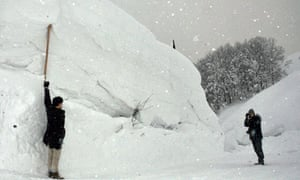 Snow to the depth of 5.15 metres is recorded in Aomori, Japan on 21 Feb.