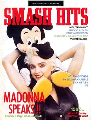 Magazine covers: Smash Hits, 30 December 1987-1 January 1988
