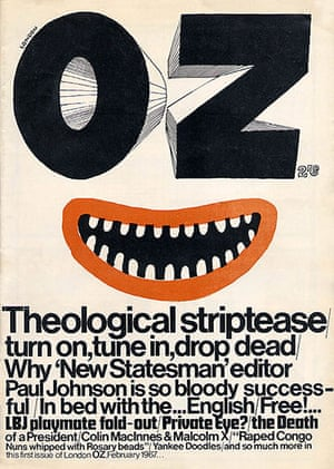 Magazine covers: Oz magazine, launch issue, February 1967