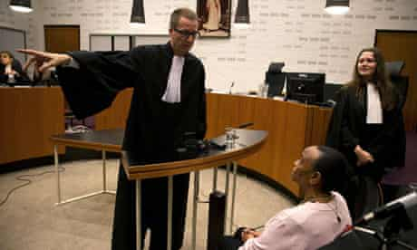 Yvonne Basebya in the Dutch court which convicted her of inciting genocide in Rwanda