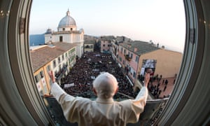Pope-eye lens: The Vatican Press Office has released several pictures taken from the Pope's perspective of his final hours in office.