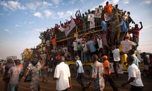 Raila Odinga rally Kenya elections