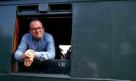 Damiano Damiani on the set of his 1987 mini-series Lenin: The Train