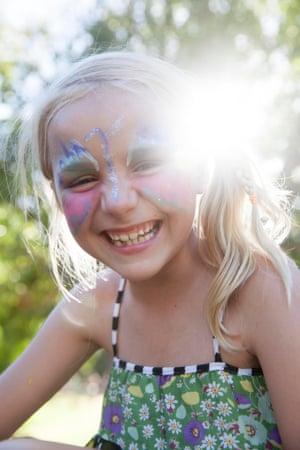 Kasey, 7 from Naracoorte enjoys the sunshine