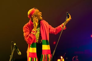 Adelaide festival day 10: Jimmy Cliff on stage during WOMADelaide