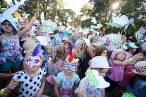 Adelaide festival day 10: The flutter parade heads out around the festival