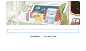 Douglas adamss life celebrated by google doodle books the guardian douglas adams google doodle spiritdancerdesigns Choice Image