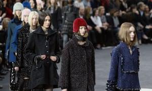 Chanel's 'techno tweeds' at Paris fashion week