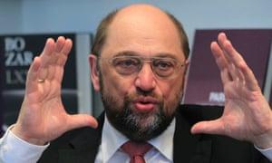 European Parliament president Martin Schulz.