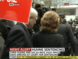 Vicky Pryce arriving at Southwark crown court