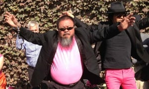"Chinese artist Ai Weiwei making a cover version of music video ""Gangnam Style"" in Beijing"