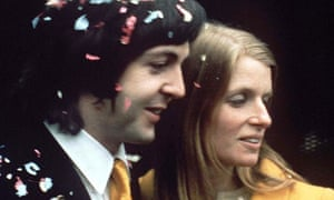 Paul and Linda McCartney on their wedding day in 1969