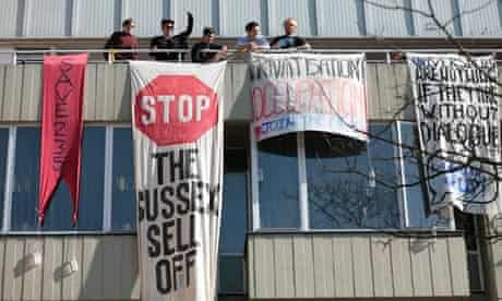 student protest Sussex University