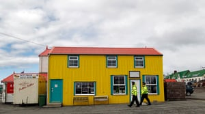 Falkland Islands: Falkland Islands police officers patrol the streets in Stanley