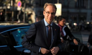 German central bank governor Jens Weidmann says inflation risks are declining.