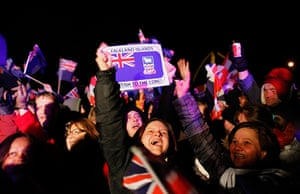 Falkland Islands: Falkland islanders react after hearing the results