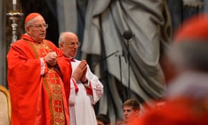 The dean of the college of cardinals, Angelo Sodano