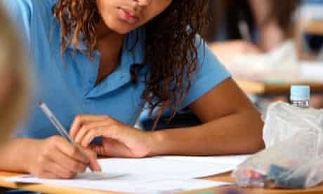 Girl doing GCSEs