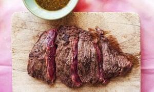 Bavette steak, chimichurri